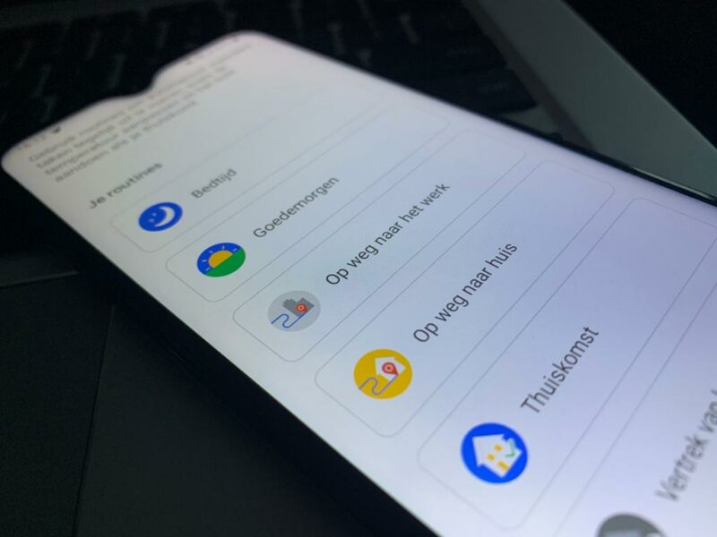 google assistant routines zonsondergang